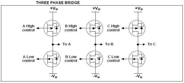 3 Phase bridge for BLDC motor