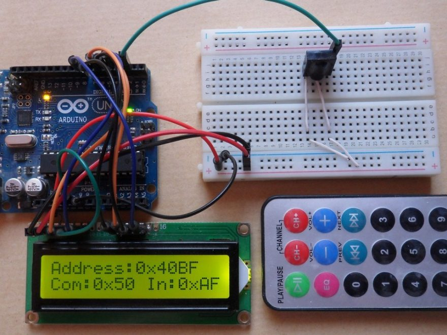 Arduino NEC remote control decoder circuit