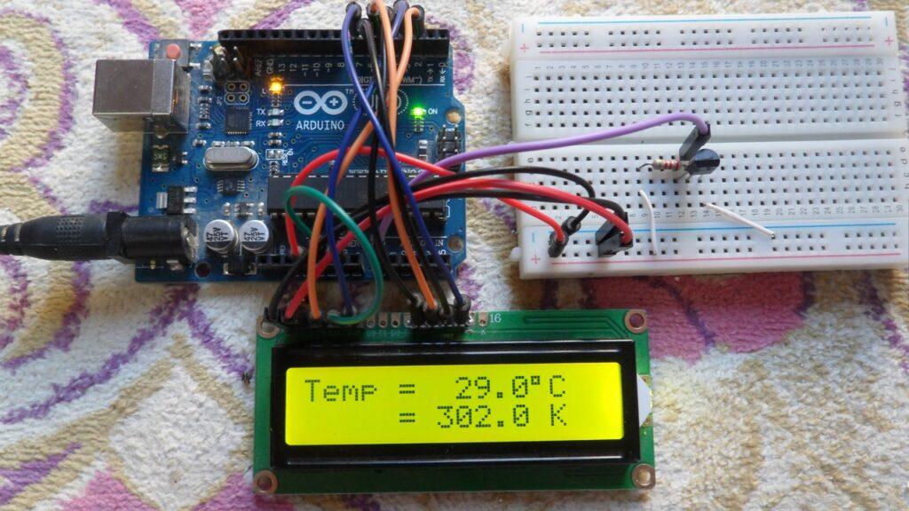 Arduino with LM335 sensor