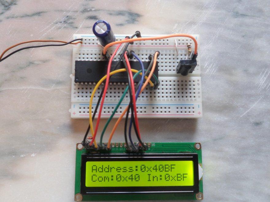 PIC16F887 NEC decoder remote control hardware circuit