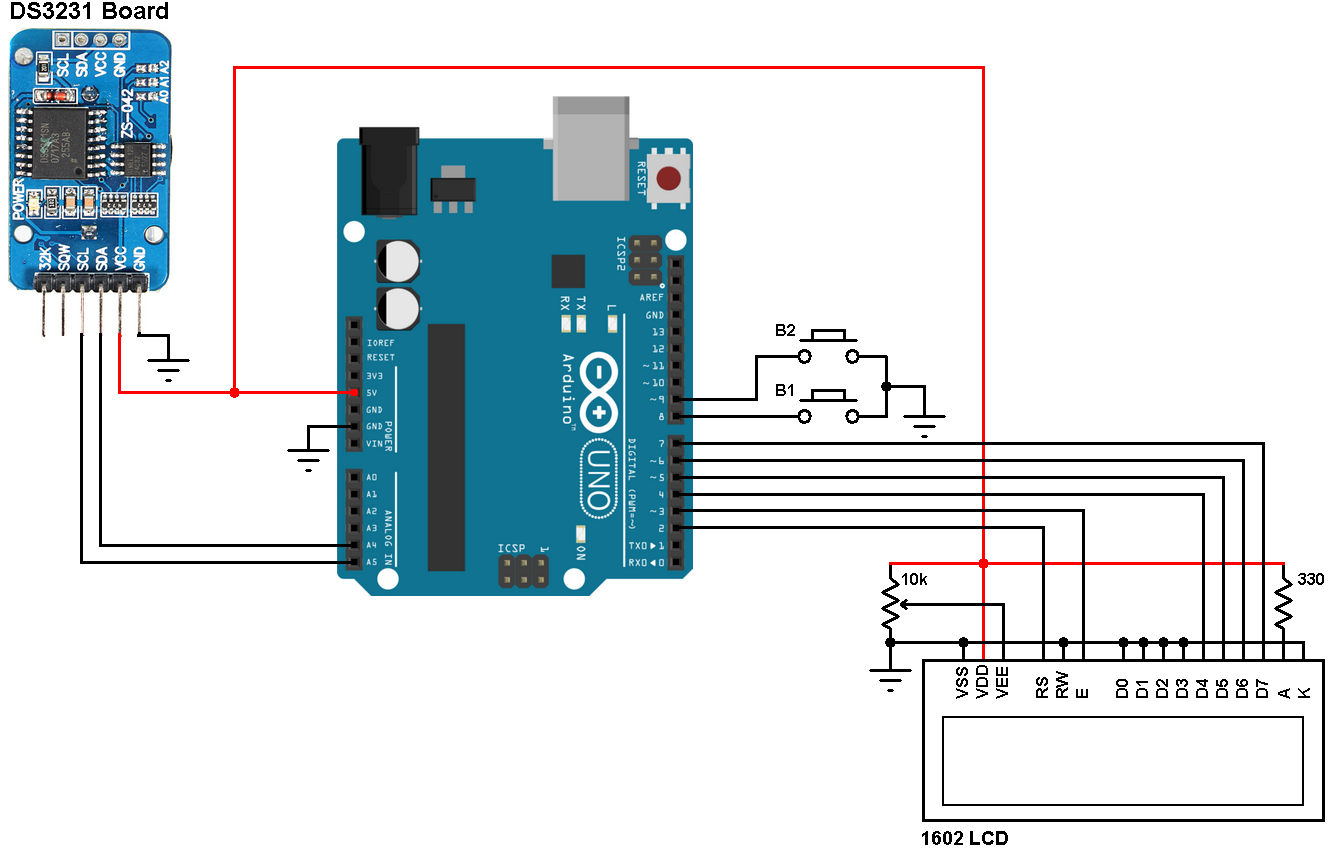 Arduino and DS3231 real time clock - Simple Projects