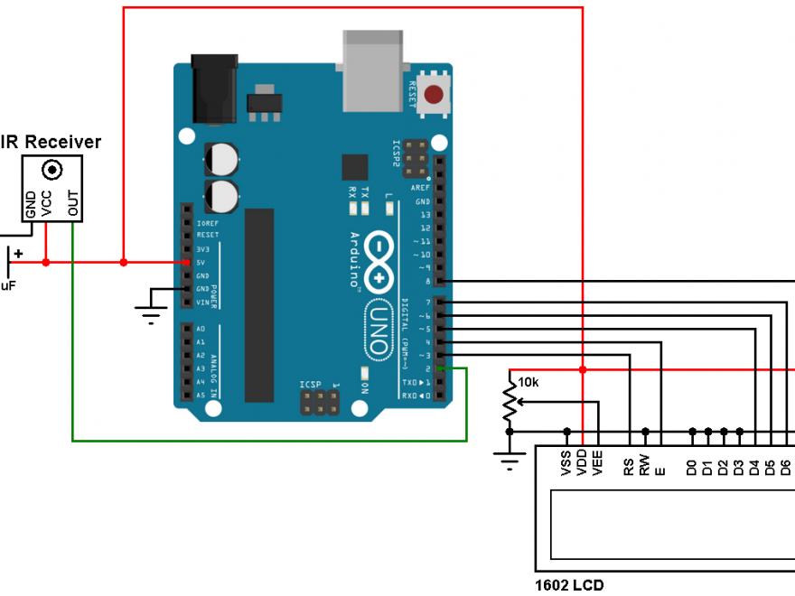 Arduino remote control decoder circuit