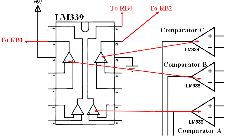 LM339 Quad comparator circuit