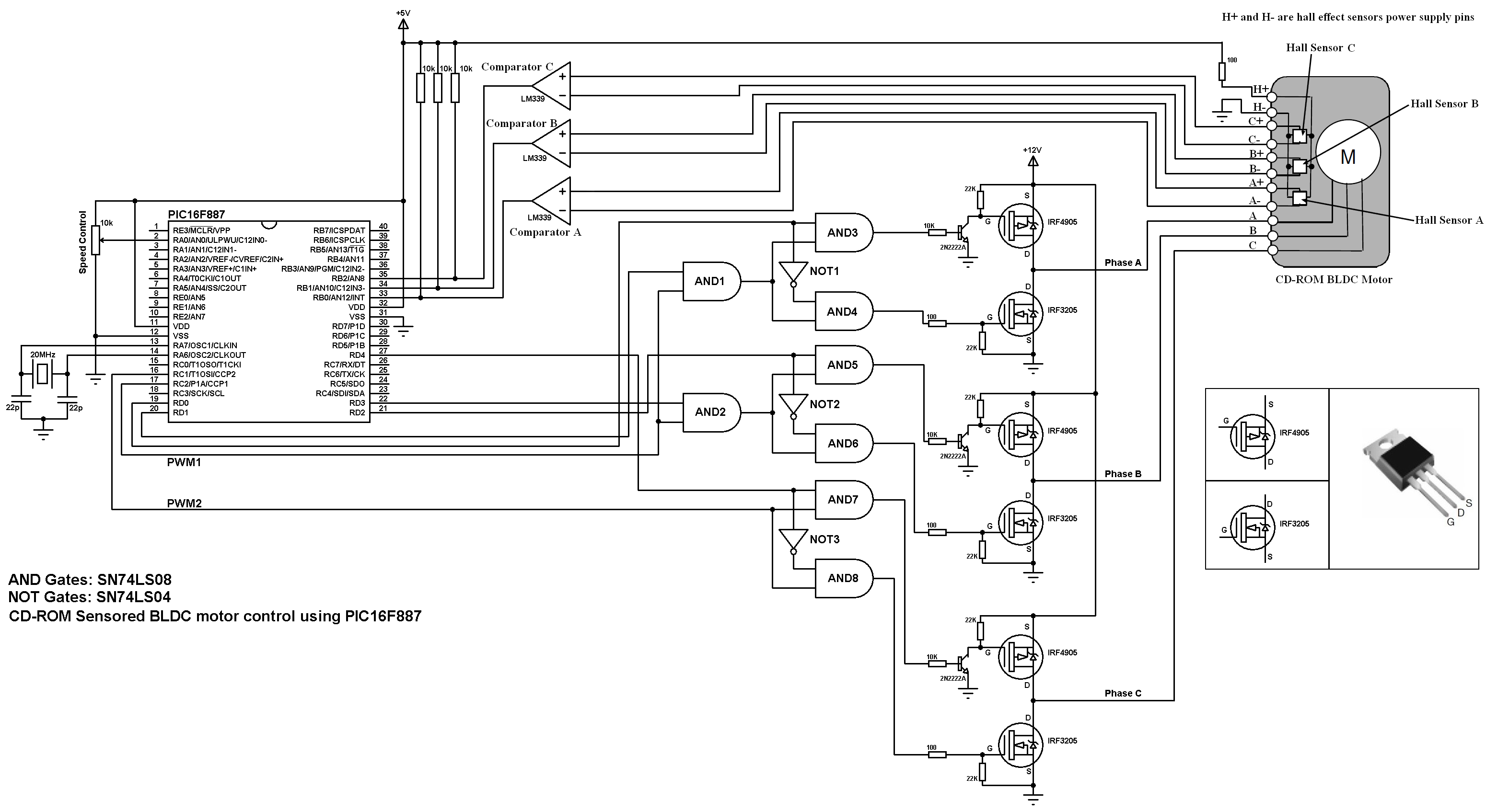 Bldc Motor Control Using Pic16f877a Code Circuit Arduino Cd Rom Brushless Dc Drive With Pic16f887 Ccs C Block Diagram