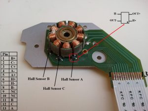 CD-ROM BLDC motor pin configuration