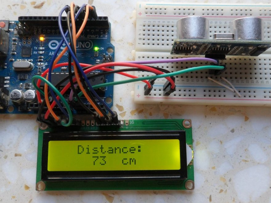 Distance meter using Arduino and HC-SR04