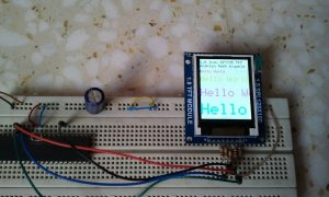 PIC18F4550 ST7735 TFT display hardware circuit