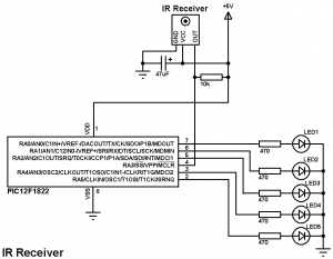 IR remote control receiver circuit