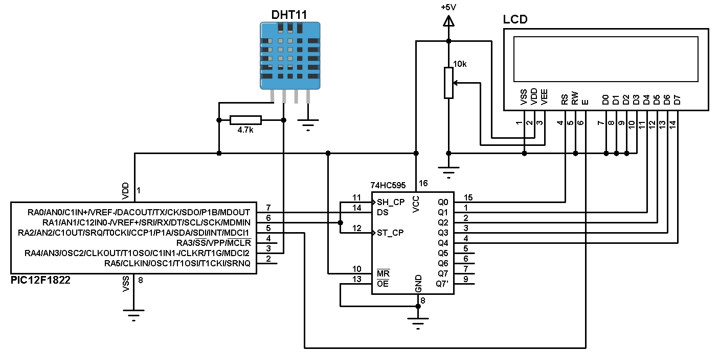 dht11 interface with pic12f1822 microcontroller