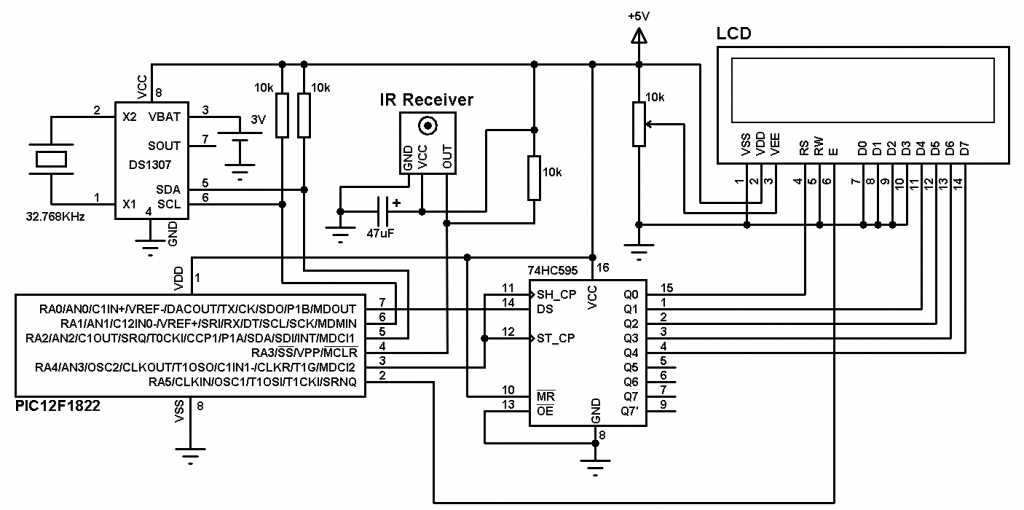 Remote controlled real time clock circuit