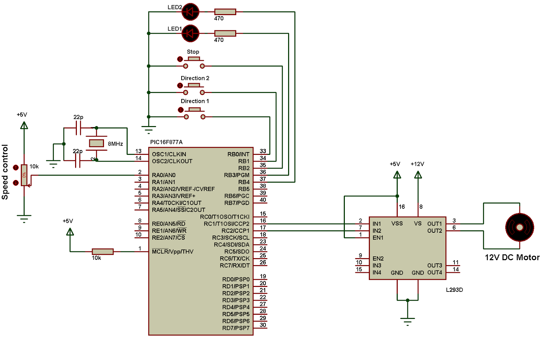 Simulation Circuit At Proteus