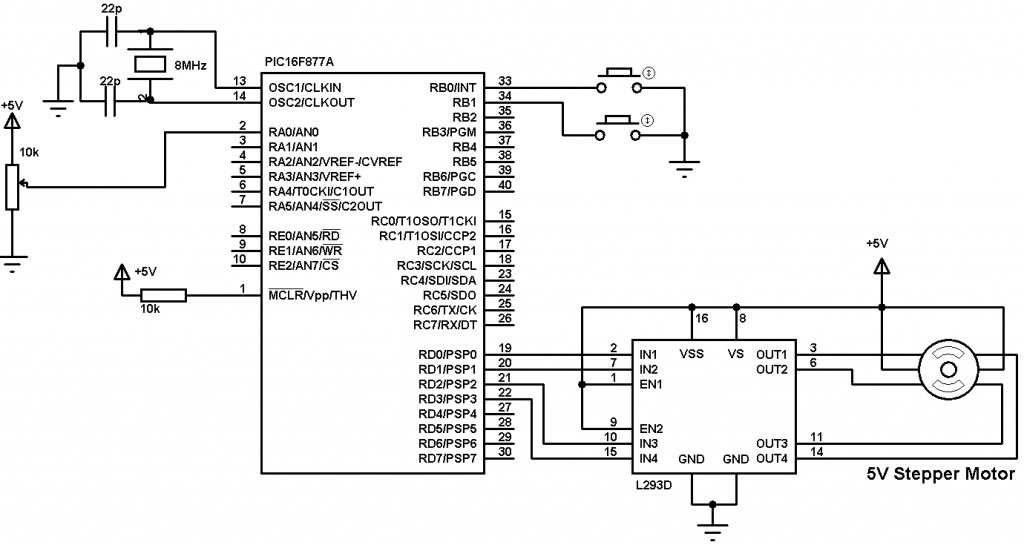 stepper motor h bridge circuit
