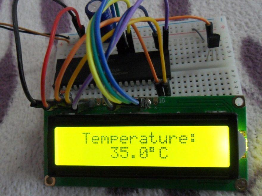 PIC16F887 LM35 Temperature sensor hardware circuit