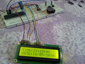 PIC18F4550 DS1307 real time clock hardware circuit