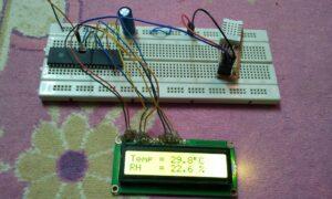 PIC18F4550 DHT22 sensor hardware circuit