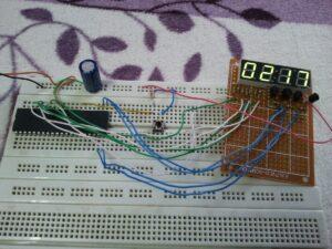 PIC18F4550 7 segment display hardware circuit