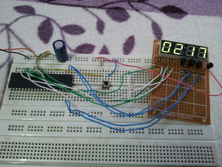 PIC18F4550 7 segment display hardware circuit
