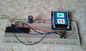PIC18F4550 ST7735 TFT display test circuit