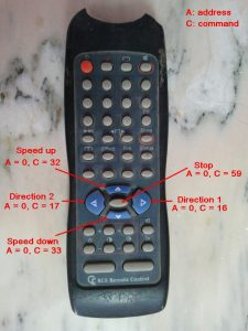 TV RC-5 IR remote control button codes