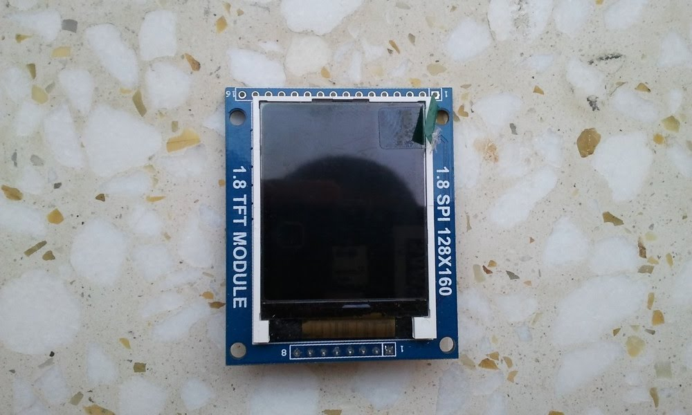 ST7735 1.8 TFT display