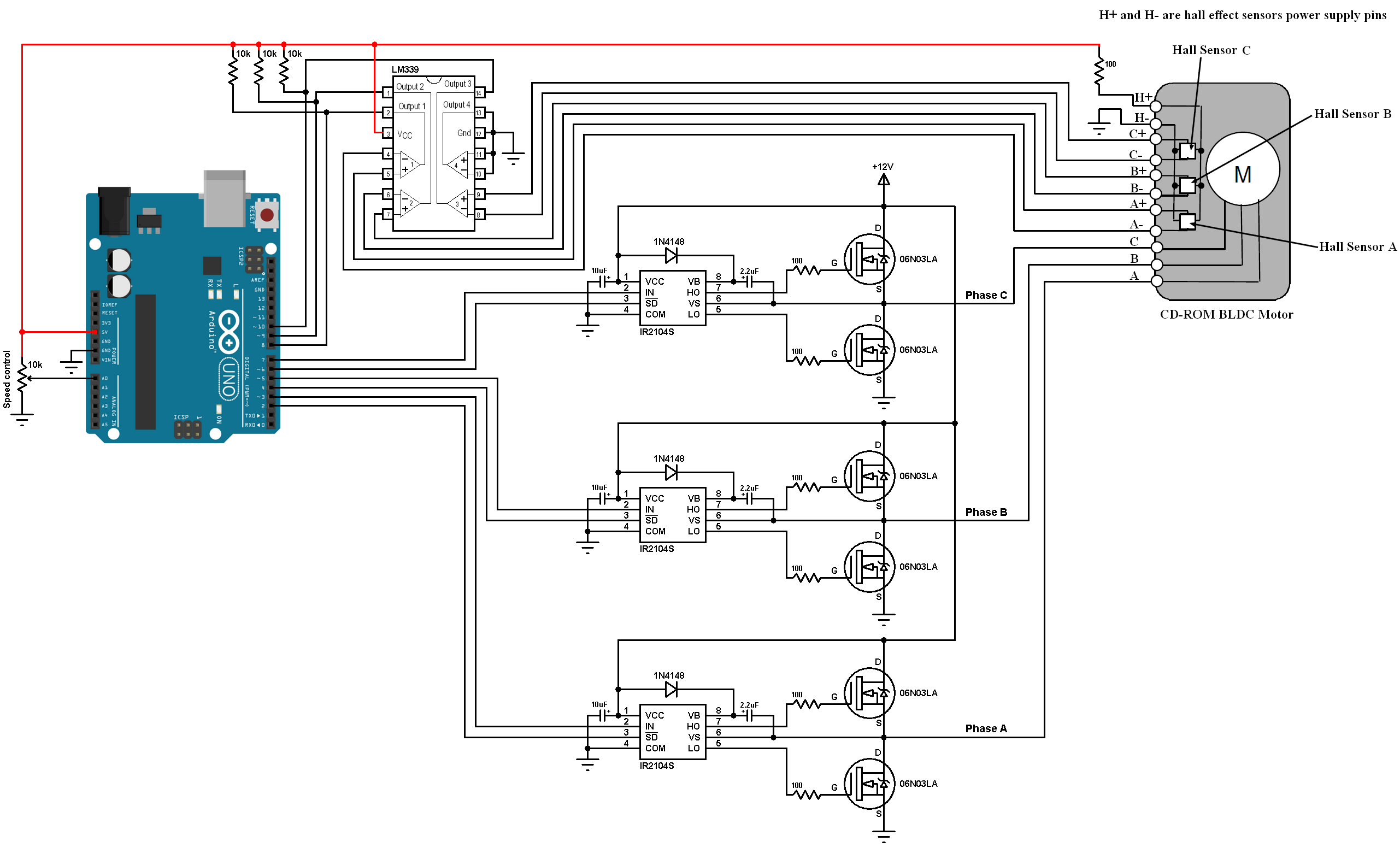 Driving A Threephase Motor Using Arduino Pwm Outputs Timing Diagram
