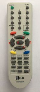 LG TV RC-5 remote control