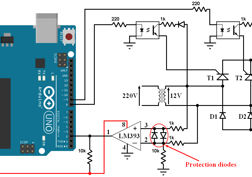 arduino controlled bridge rectifier with thyristors