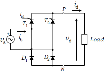 half-controlled bridge rectifier