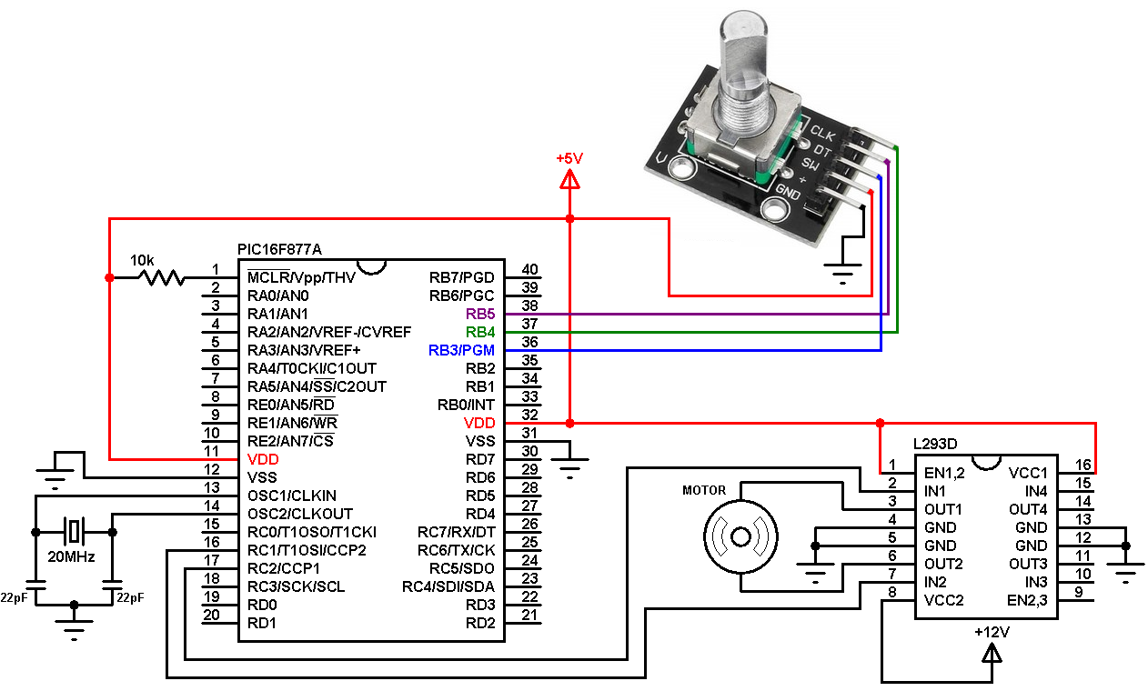 Encoder Wiring Diagram Page 5 And Schematics Incremental Dc Motor Sd Direction Control Using Pic16f877a Rotary Rh Simple Circuit Com