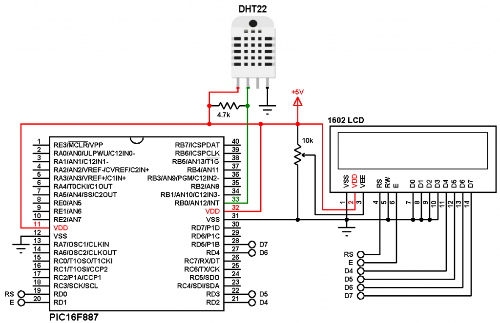 mikroC DHT22 sensor with PIC microcontroller (AM2302 RHT03)