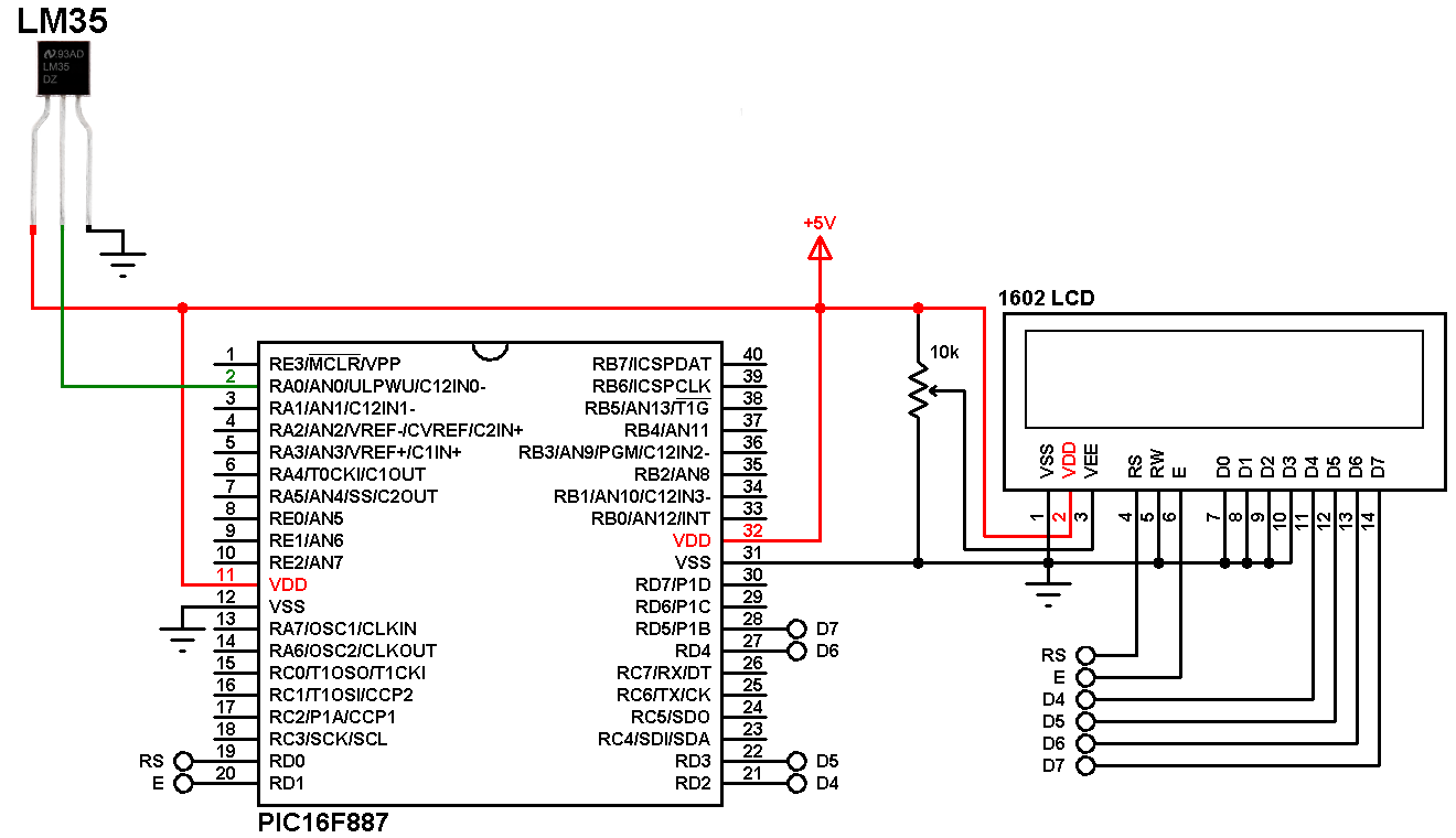interfacing pic microcontroller with lm35 sensor