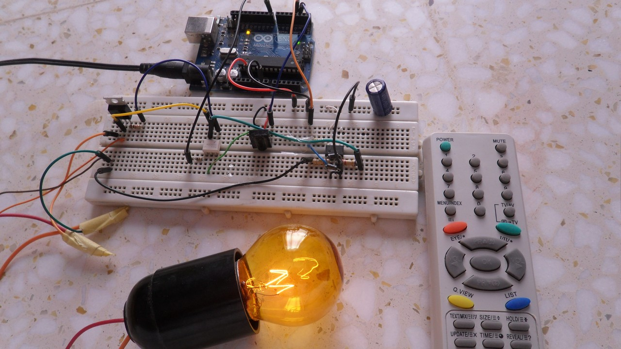 Remote controlled light dimmer with Arduino - Simple Projects
