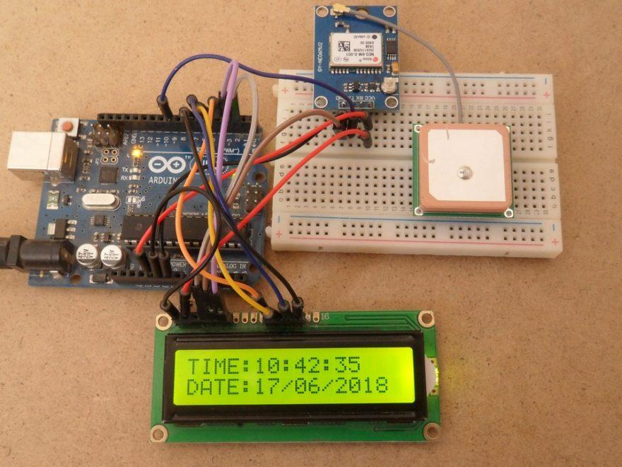 Arduino GPS clock with U-Blox NEO-6M GPS module