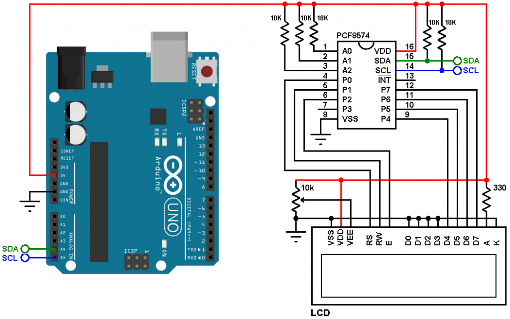 Interfacing Arduino With I2c Lcd