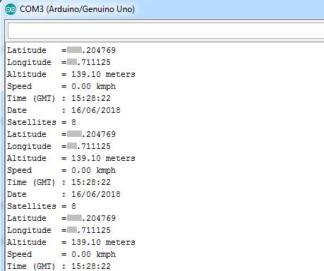 Arduino NEO-6M GPS example