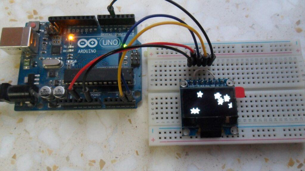 arduino ssd1306 oled 128x64 circuit