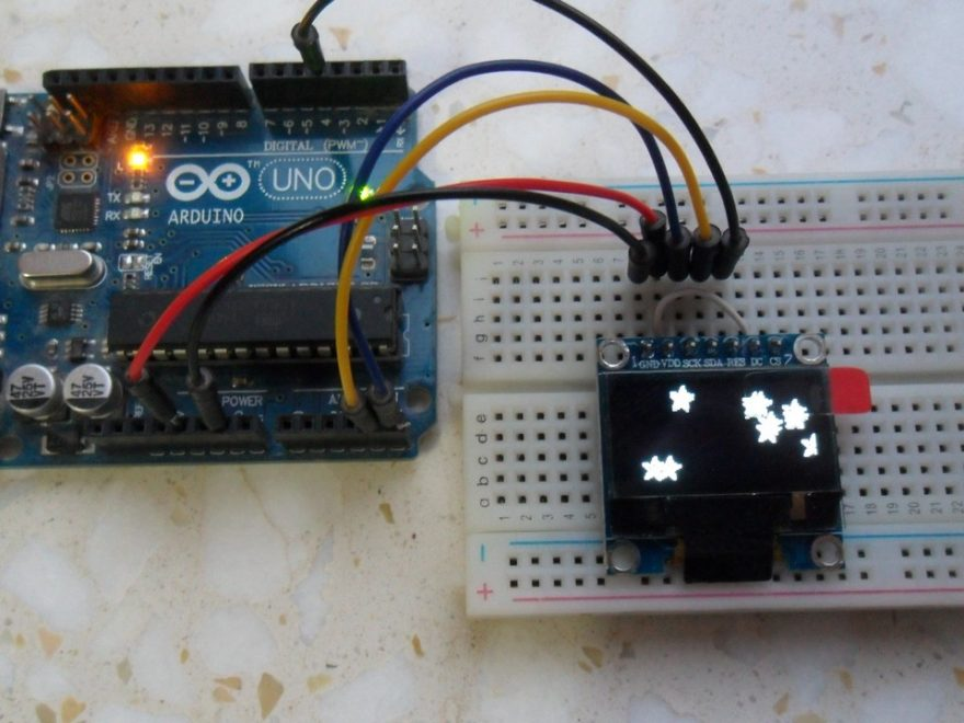 arduino ssd1306 oled 128x64 circuit