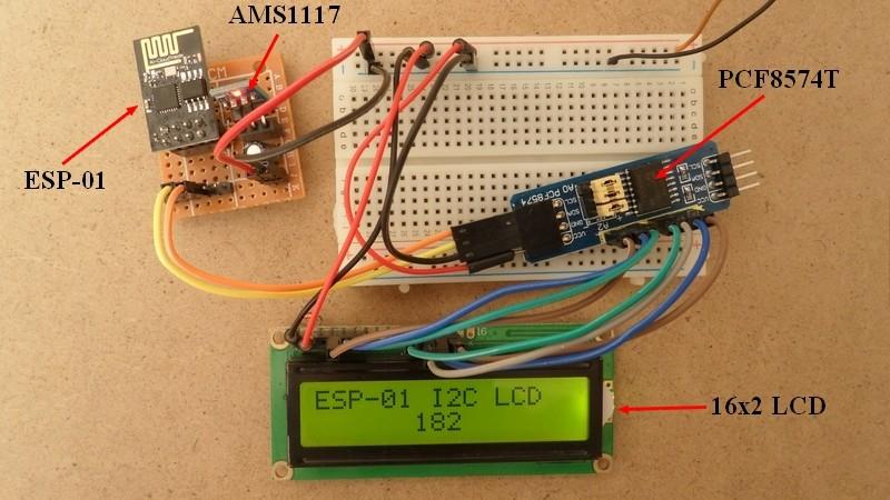ESP8266 ESP-01 with I2C LCD