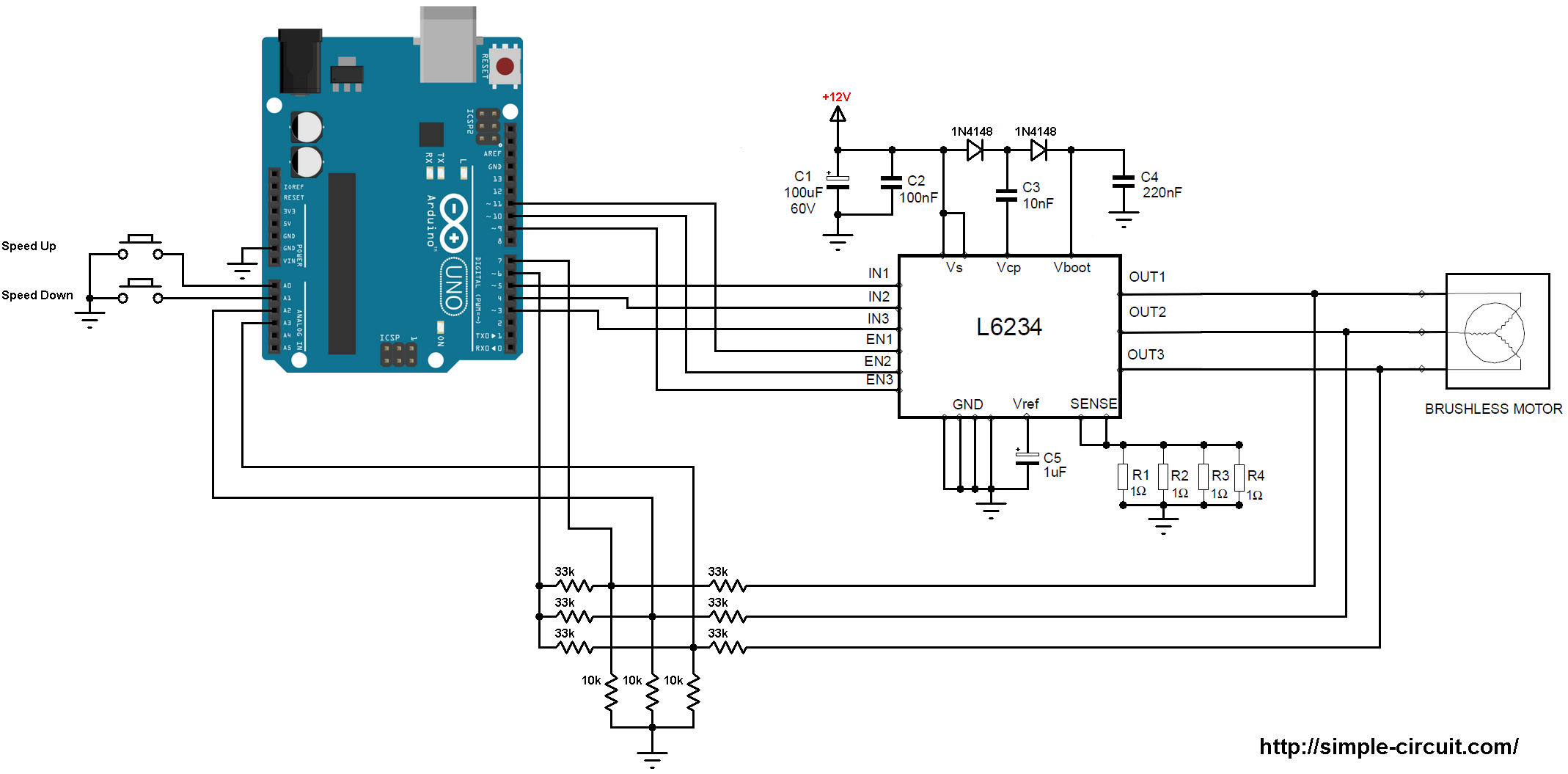 Hpm Drive System Setup additionally Showatt in addition Bridge Circuit together with Wiring moreover Pic F Speed Control. on brushless esc circuit diagram