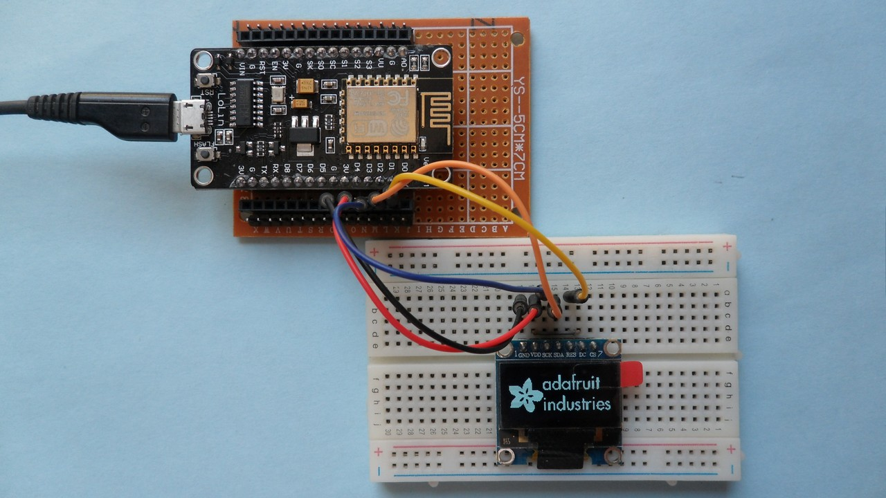 ESP8266 NodeMCU interfacing with SSD1306 OLED - Simple Projects