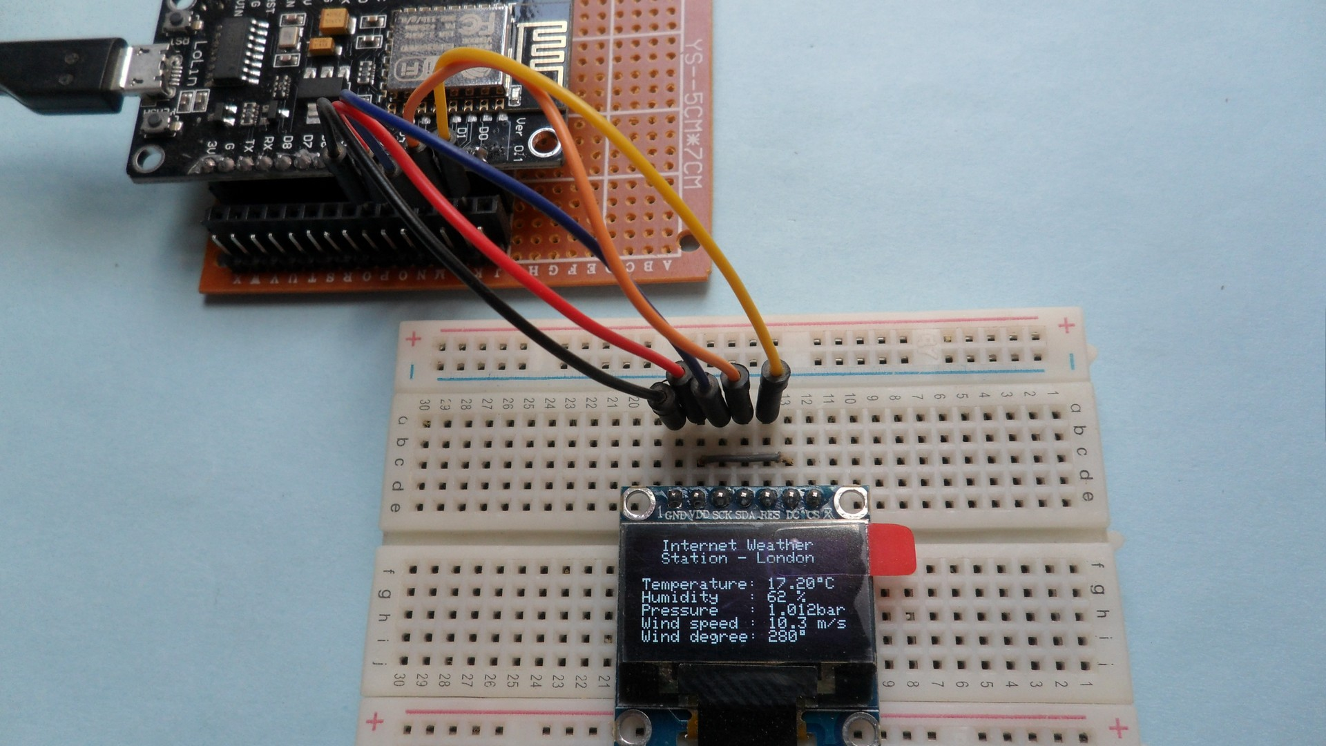 NodeMCU Internet weather station with SSD1306 OLED | IoT