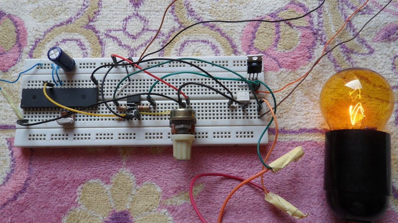 220v Ac Lamp Dimmer With Pic16f877a And Triac Simple Projects Dc Control For Triacs