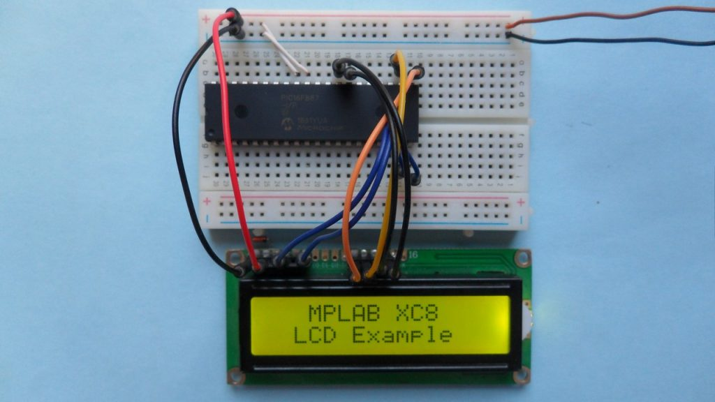 PIC16F887 with LCD display - MPLAB XC8 LCD