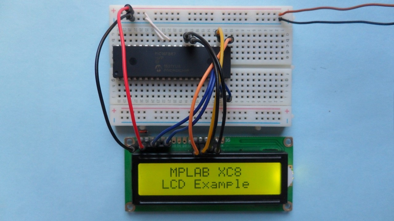 Interfacing LCD with PIC microcontroller | MPLAB Projects