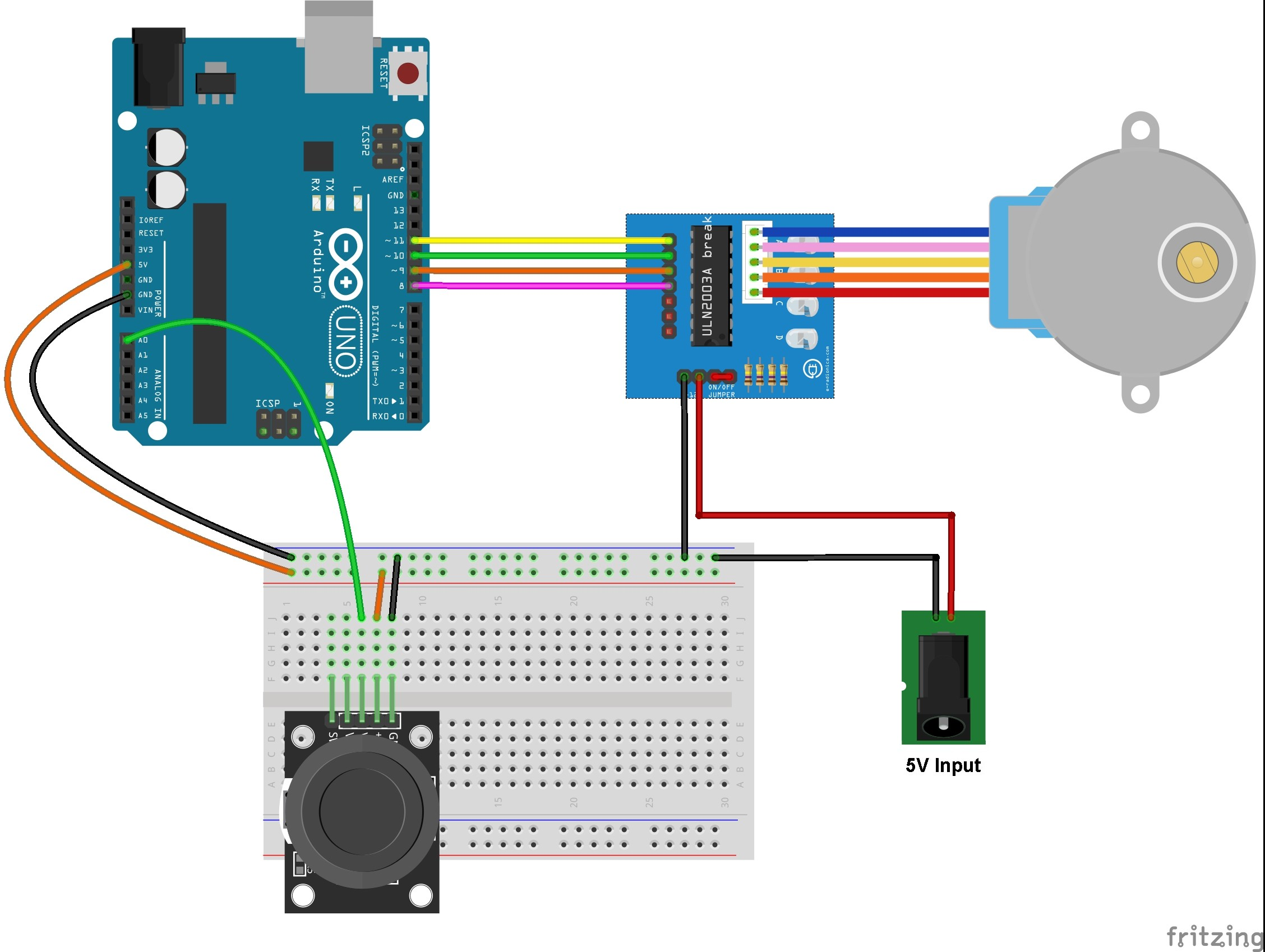 Stepper Motor Control With Arduino And Joystick Simple Projects Bldc Circuit Using