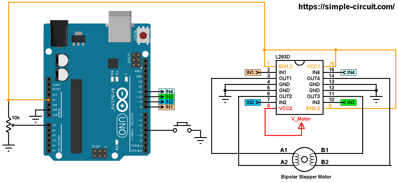 Arduino Bipolar Stepper Motor Control - Simple Projects