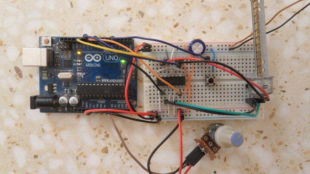 Arduino bipolar stepper motor control hardware circuit