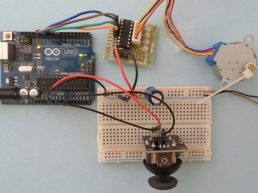 Arduino stepper motor joystick control