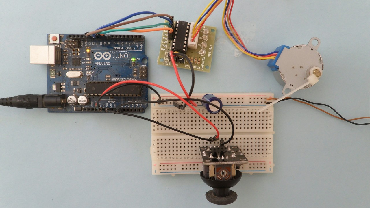 Stepper Motor Control with Arduino and Joystick - Simple Projects