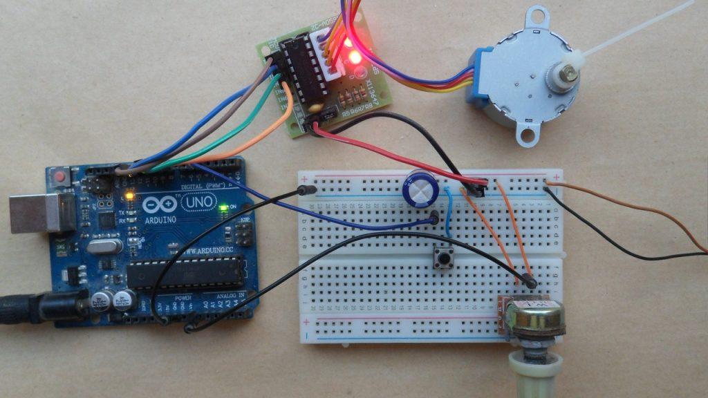 Arduino 28-BYJ48 stepper motor controller